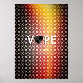 Vape Heart Retro Premium Posters