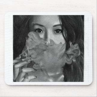 Vape Lady Smoking Hot Design Mouse Pad