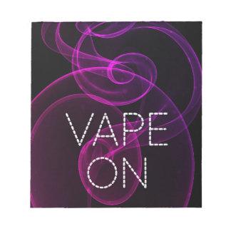 Vape On Pink Purple Grunge Smoke Notepad
