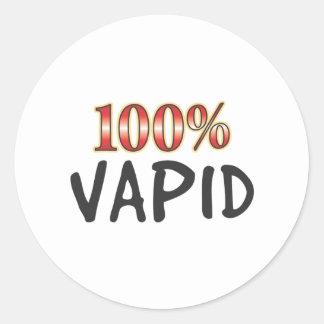 Vapid 100 Percent Round Sticker