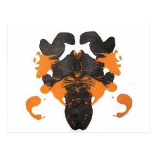 Vapid Orange Inkblot Design Postcard