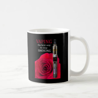 Vaping and rose flower coffee mug