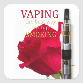 Vaping is the best way to stop smoking square sticker