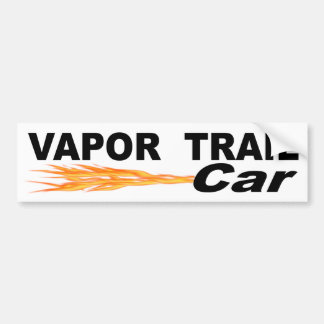 Vapor Trail Car Bumper Sticker