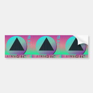 vaporwave aesthetic bumper sticker