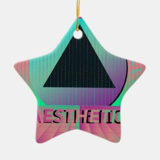 vaporwave aesthetic ceramic ornament