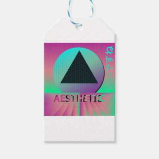 vaporwave aesthetic gift tags