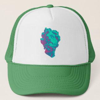 Vaporwave Aesthetic Glitch Statue Hat