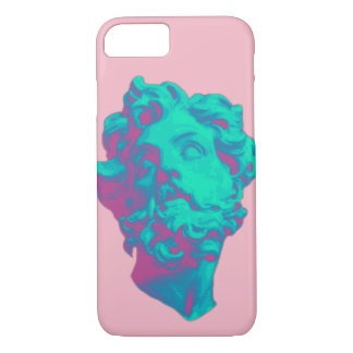 Vaporwave Aesthetic Glitch Statue Phone Case