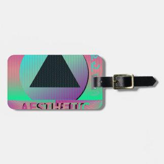 vaporwave aesthetic luggage tag