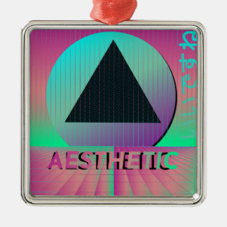vaporwave aesthetic metal ornament