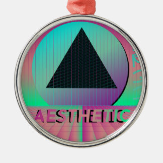 vaporwave aesthetic metal ornament