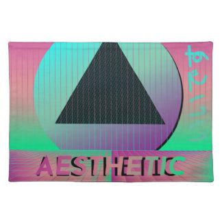 vaporwave aesthetic placemat