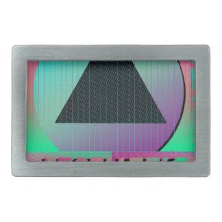 vaporwave aesthetic rectangular belt buckle