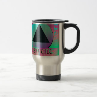 vaporwave aesthetic travel mug
