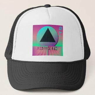 vaporwave aesthetic trucker hat