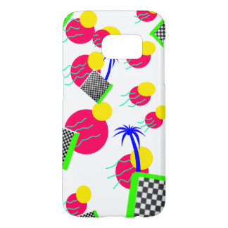 Vaporwave tropical palm tree phone case