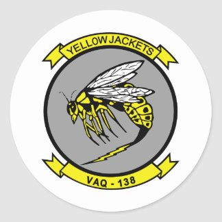 VAQ-138 Yellow Jackets Classic Round Sticker