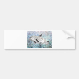 Vaquita River Dolphin Endangered Animal Painting Bumper Sticker