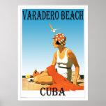 Varadero Beach Cuba Vintage 1920s Retro Poster