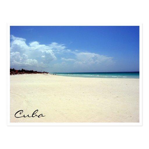varadero beach scene postcard
