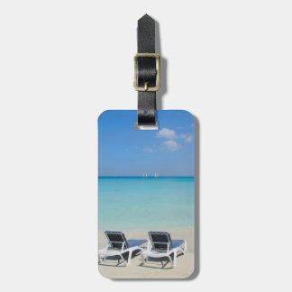 Varadero, Cuba. Sand And Beach Chairs Bag Tag