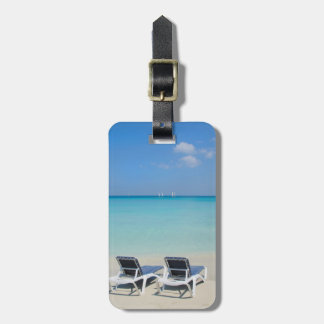 Varadero, Cuba. Sand And Beach Chairs Luggage Tag