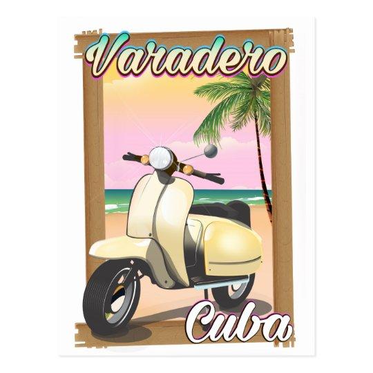 Varadero Cuban vintage scooter poster Postcard