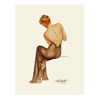 Vargas Pinup Girl - Mini Collectible Prints Postcard