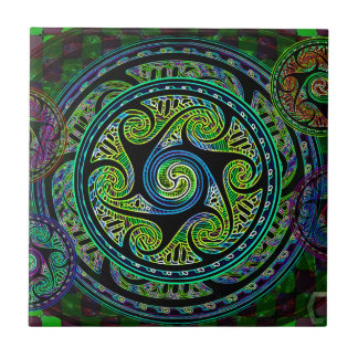 Variated Spheres Vibrant Celtic Knot Tile