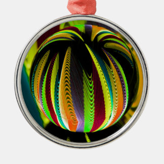 Variation ColoursI in Ball Metal Ornament