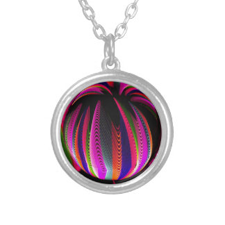 Variation of colours in the glass silver plated necklace