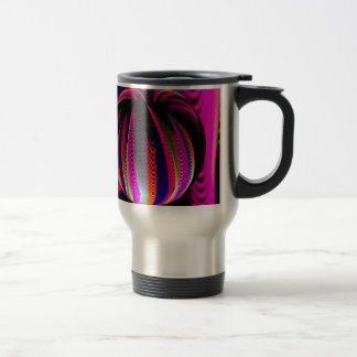 Variation of colours in the glass travel mug