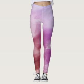 Variations of Purple in Watercolor Leggings