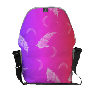 Variations on our signature Hippy Angel design Courier Bag