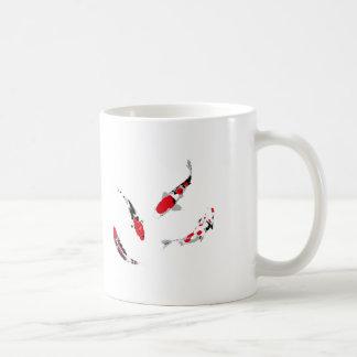 Varicolored carps coffee mug