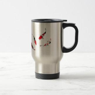 Varicolored carps travel mug