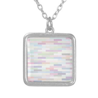 varicolored pattern silver plated necklace
