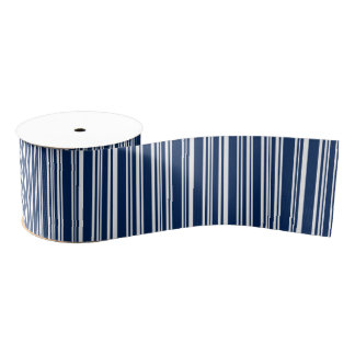 Varied Navy and White Stripes Ribbon Grosgrain Ribbon