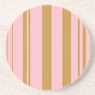 Varied Stripes/Pink & Ochre Coaster