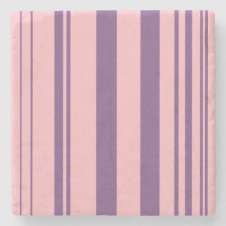 Varied Stripes/Pink & Purple Stone Coaster