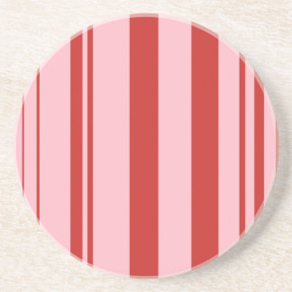 Varied Stripes/Pink & Red Coaster