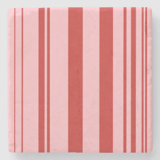 Varied Stripes/Pink & Red Stone Coaster