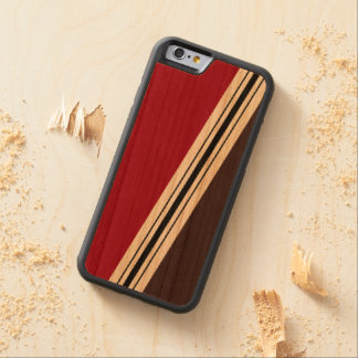 Varied Width Stripes Wood iPhone Carved Cherry iPhone 6 Bumper Case