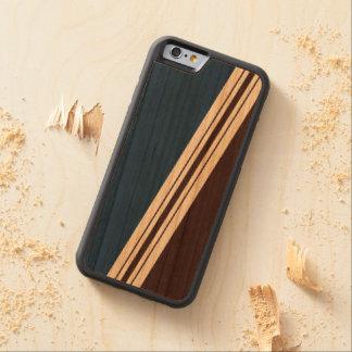 Varied Width Stripes Wood iPhone Cherry iPhone 6 Bumper