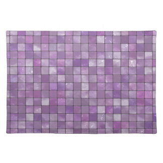 Variegated Amethyst Tile Pattern Placemats