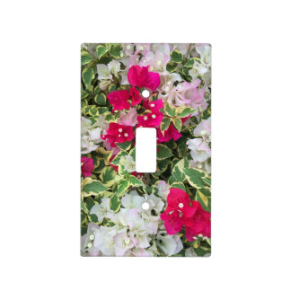 Variegated Bougainvillea Light Switch Cover