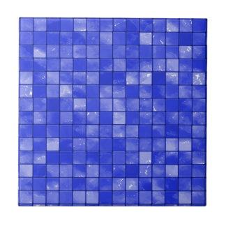 Variegated cobalt Blue Tile Pattern