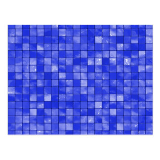 Variegated cobalt Blue Tile Pattern Postcard