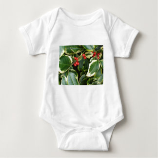 variegated holly baby bodysuit